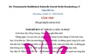 TÂM THƯ: Kêu gọi ủng hộ cứu trợ lũ lụt miền Bắc Việt Nam của Ban Từ Thiện chùa Phổ Đà Berlin