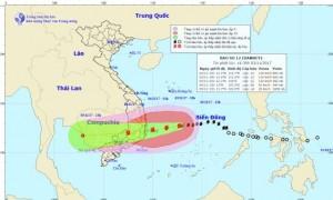 Sáng sớm mai 4.11, bão số 12 giật cấp 15 đi vào đất liền Phú Yên - Bình Thuận