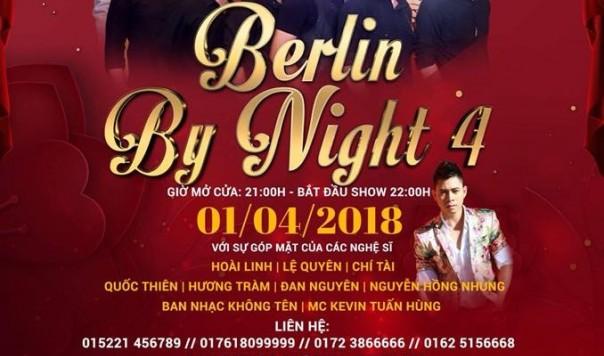 """THƯ MỜI: DỰ ĐÊM """"BERLIN BY NIGHT 4"""" TẠI KHÁCH SẠN 5 SAO MARITIM (1.4.2018)"""