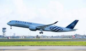 VIETNAM AIRLINES ĐÓN MÁY BAY A350 THỨ 12 ĐẶC BIỆT MANG DẤU ẤN SKY TEAM
