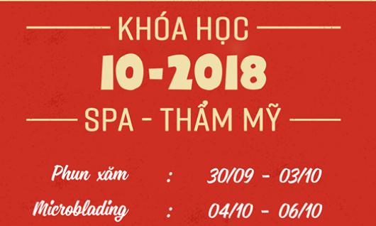LỊCH HỌC THÁNG 10/2018 TẠI ĐỒNG XUÂN SPA