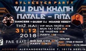 THƯ MỜI: DỰ SYLVESTER PARTY ĐÊM 31.12.2018 TẠI THỦ ĐÔ BERLIN