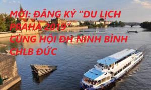 """THƯ MỜI: ĐĂNG KÝ """"DU LỊCH TP PRAHA 2019"""" CÙNG HỘI ĐỒNG HƯƠNG NINH BÌNH CHLB ĐỨC"""