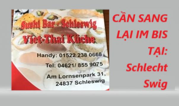 LOA LOA: CẦN SANG LẠI IM BIS TẠI SCHLECHT SWIG