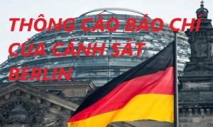 THÔNG CÁO BÁO CHÍ CỦA CẢNH SÁT BERLIN VỀ VỤ 472 TRẺ EM VIỆT NAM BỊ MẤT TÍCH TẠI BERLIN