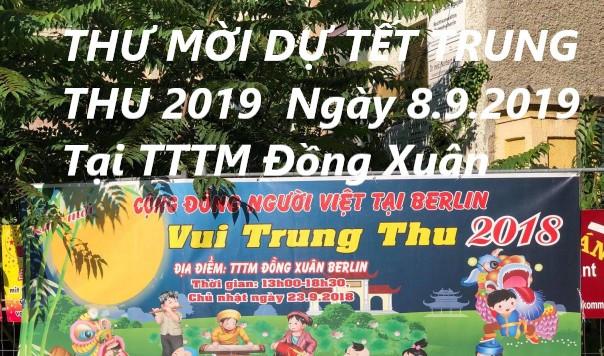 THƯ MỜI DỰ TẾT TRUNG THU 2019 TẠI BERLIN (Ngày 8.9.2019)