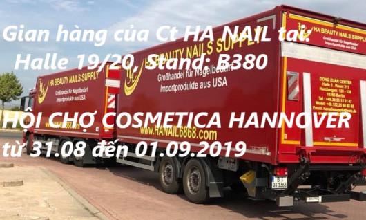 THƯ MỜI: THAM DỰ HỘI CHỢ COSMETICA HANNOVER CÙNG CT HÀ NAILS - từ 31.08 đến 01.09.2019