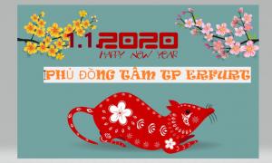 THƯ MỜI: CHÀO ĐÓN NĂM MỚI 2020 TẠI PHỦ ĐỒNG TÂM TP ERFURT CHLB ĐỨC (1.1)