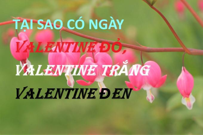 TẠI SAO CÓ NGÀY VALENTINE ĐỎ, VALENTINE TRẮNG & VALENTINE ĐEN
