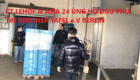 CÔNG TY LEHOF & ASIA 24 ỦNG HỘ ĐẬU PHỤ TẠI BERLINER TAFEL e.V BERLIN