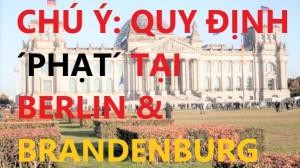 CHÚ Ý: QUY ĐỊNH ´PHẠT´ TẠI BERLIN & BRANDENBURG