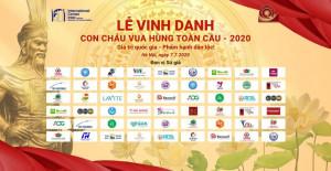 THÔNG BÁO: LỄ TRAO GIẢI- VINH DANH CON CHÁU VUA HÙNG TOÀN CẦU NĂM 2020