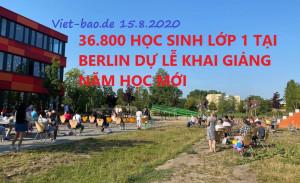 36.800 HỌC SINH LỚP 1 TẠI BERLIN DỰ LỄ KHAI GIẢNG NĂM HỌC MỚI