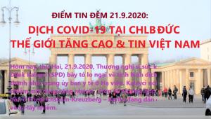 ĐIỂM TIN ĐÊM 21.9.2020: DỊCH COVID-19 TẠI CHLB ĐỨC, THẾ GIỚI TĂNG CAO & TIN VIỆT NAM