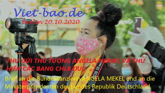 THƯ GỬI THỦ TƯỚNG ANGELA MERKEL & CÁC THỦ HIẾN CÁC BANG CHLB ĐỨC
