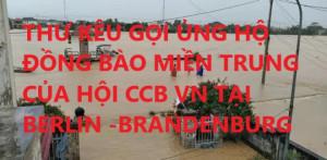 THƯ KÊU GỌI ỦNG HỘ ĐỒNG BÀO MIỀN TRUNG CỦA HỘI CCB VN TẠI BERLIN -BRANDENBURG