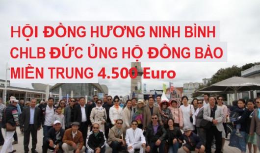 HỘI ĐỒNG HƯƠNG NINH BÌNH CHLB ĐỨC ỦNG HỘ ĐỒNG BÀO MIỀN TRUNG 4.500 Euro