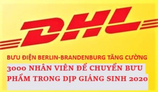 BƯU ĐIỆN BERLIN-BRANDENBURG TĂNG CƯỜNG 3000 NHÂN VIÊN ĐỂ CHUYỂN BƯU PHẨM TRONG NGÀY LỄ