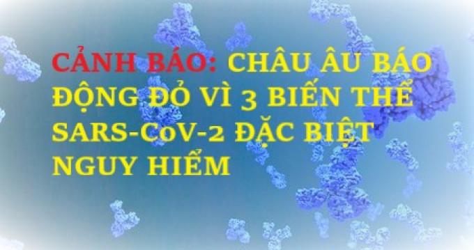 CẢNH BÁO: CHÂU ÂU BÁO ĐỘNG ĐỎ VÌ 3 BIẾN THỂ SARS-CoV-2 ĐẶC BIỆT NGUY HIỂM