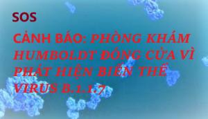 CẢNH BÁO: PHÒNG KHÁM HUMBOLDT ĐÓNG CỬA VÌ PHÁT HIỆN BIẾN THỂ VIRUS B.1.1.7