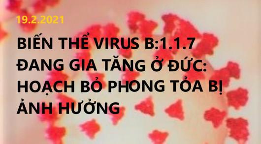 BIẾN THỂ VIRUS B.1.1.7 ĐANG GIA TĂNG Ở ĐỨC: KẾ HOẠCH BỎ PHONG TỎA BỊ ẢNH HƯỞNG
