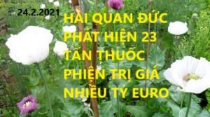 HẢI QUAN ĐỨC PHÁT HIỆN 23 TẤN THUỐC PHIỆN TRỊ GIÁ NHIỀU TỶ EURO